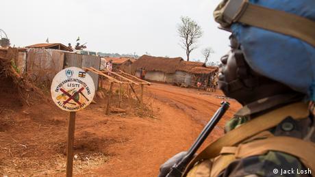 Zentralafrikanische Republik UN Blauhelm Soldat