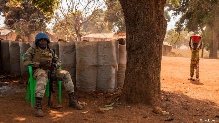 Zentralafrikanische Republik UN-Blauhelm Soldat