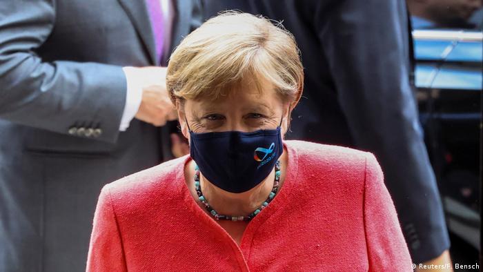Angela Merkel, chanceler federal da Alemanha, de máscara