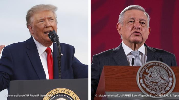 Kombobild Trump und Lopez Obrador