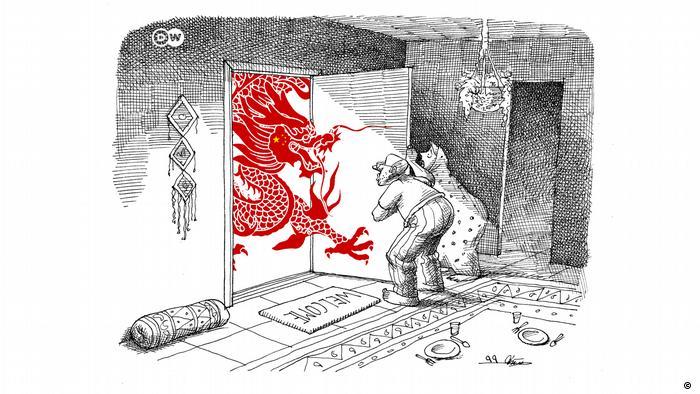 Karikatur der Woche Mana Neystani Kooperationsabkommen Iran China