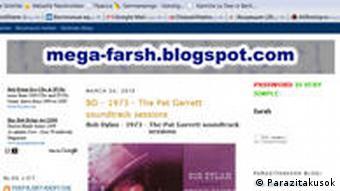 Screenshot Blogger Parazitakusok