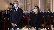 Spanien Madrid Trauergottesdienst für die 28 000 Corona-Toten in Spanien mit König Felipe VI. und Königin Letizia