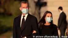 Spanien Madrid Trauergottesdienst für die Corona-Toten in Spanien mit König Felipe VI. und Königin Letizia