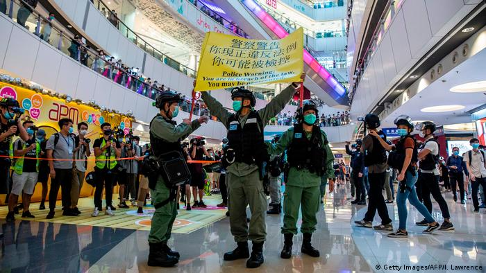 Hongkong Sicherheitsgesetz Proteste (Getty Images/AFP/I. Lawrence)