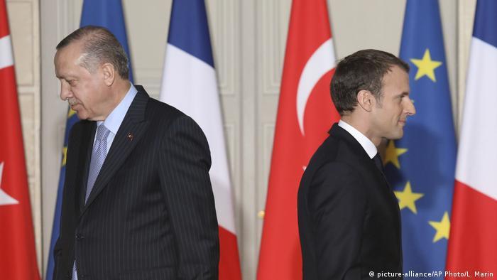 Frankreich Paris | Staatstreffen | Erdogan und Macron