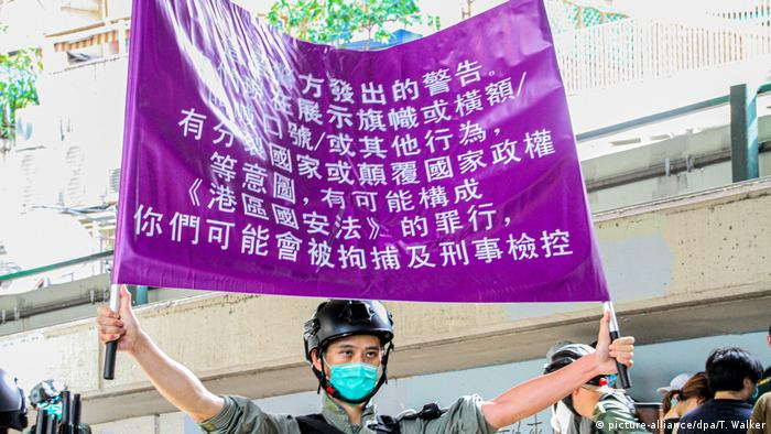 China Hong Kong | Proteste | Sicherheitsgesetz (picture-alliance/dpa/T. Walker)