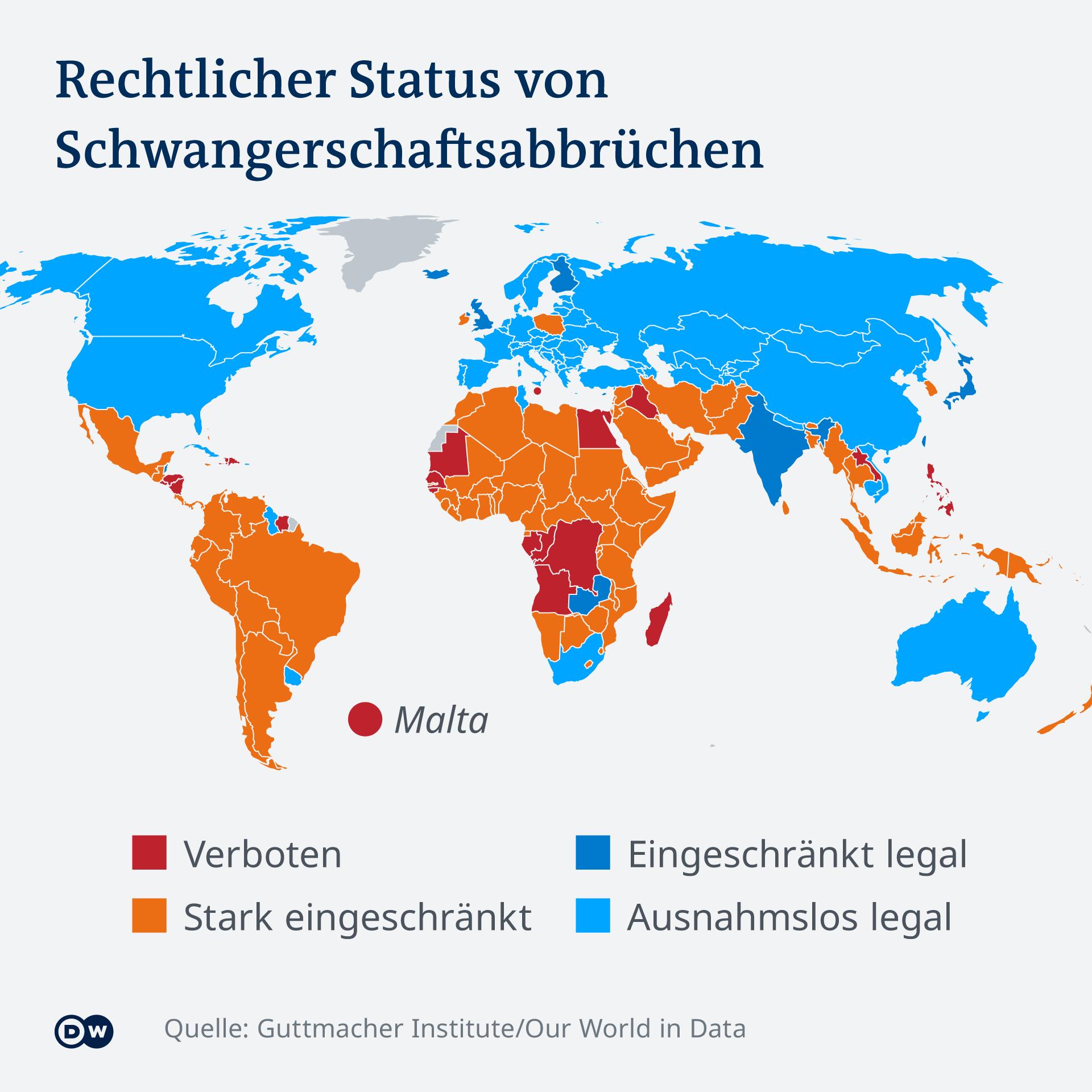 Infografik Abtreibung weltweit DE