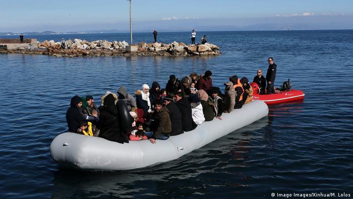 Asylum seekers traveling on the Mediterranean Sea