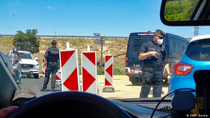 Spanien Katalonien | Artikelbilder zu Rassismus und lockdown in Katalonien (DW/F. Barber)