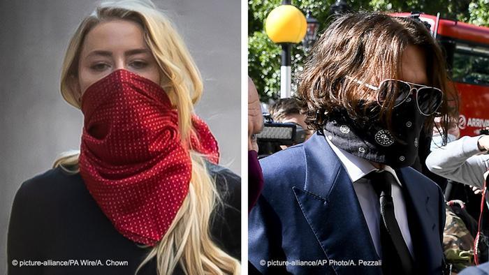 Bildkombo   Johnny Depp und Amber Heard