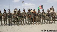 07.07.2020 Afghanische Soldaten und Sicherheitsvorkehrungen in der afghanischen Stadt Ghazni.