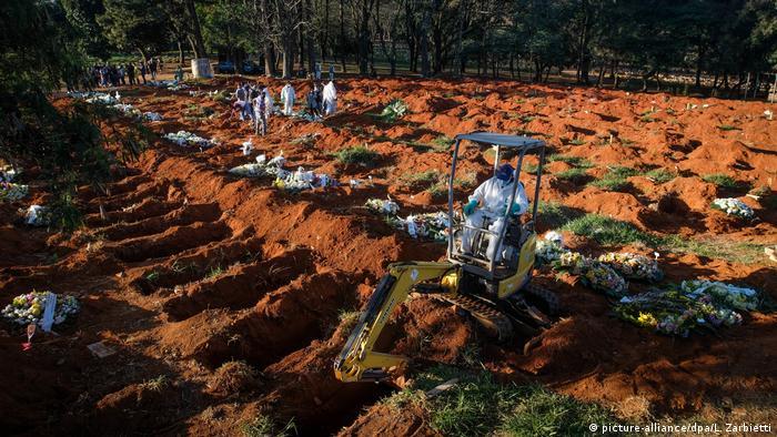 Frisch ausgehobene Gräber in São Paulo (im Juni)