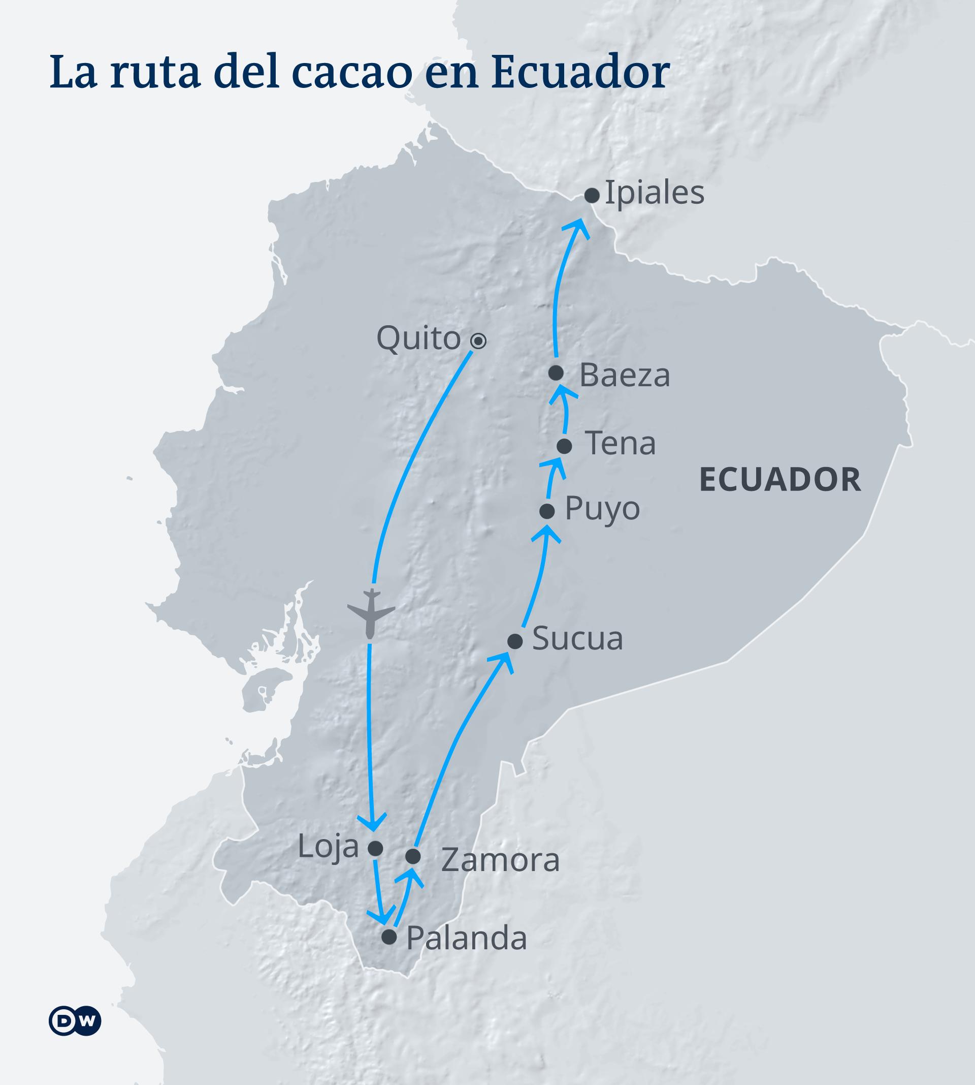 Infografik Kakaoroute Ecuador ES