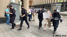 Russland Moskau Ivan Safronov Festnahme Protest