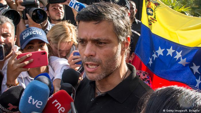 Leopoldo López, líder disidente venezolano.