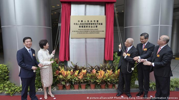 Hongkong Eröffnung Nationales Sicherheitsbüro