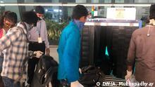 Bildbeschreibung: Indian airports amid the COVID-19 pandemic Copyright: DW's Ankita Mukhopadhyay, aus Neu Delhi