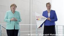 Deutschland Angela Merkel und Franziska Giffey | Gleichstellungsstrategie