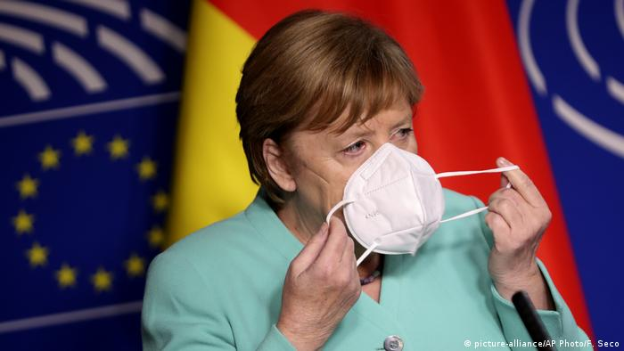 Канцлер ФРГ Ангела Меркель на выступлении в Европарламенте