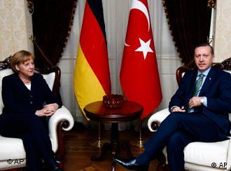 Chancellor Angela Merkel and Turkish Prime Minister Recep Tayyip Erdogan