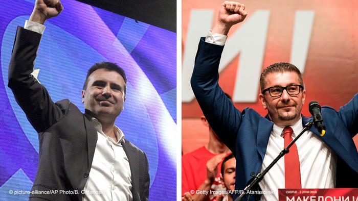Kombobild Zoran Zaev und Hristijan Mickoski