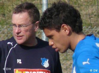 Trener Rangnick i Brazilac Eduardo
