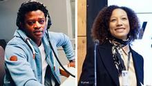 *****Achtung: Verwendung nur zur abgesprochenen Berichterstattung links: Juli 2020, Bob Barry, DW Afrique Und Tara Méité, Starp-up Expertin rechts: Tara Méité, Starp-up Expertin