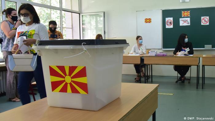 Nordmazedonien | Testabstimmung für die Parlamentswahlen (DW/P. Stojanovski)