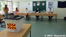 Testabstimmung für die Parlamentswahlen in Nordmazedonien, Skopje, 08.07.2020