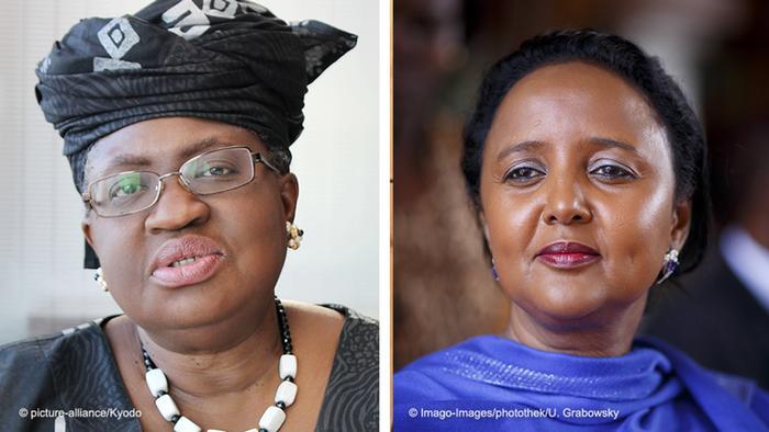 Las favoritas: Ngozi Okonjo-Iweala (izq.) y Amina Mohamed.