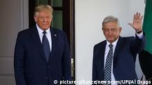 USA   Trump empfängt den mexikanischen Präsident Obrador