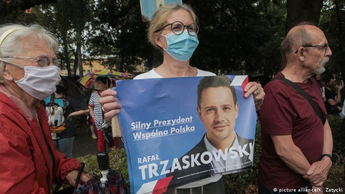 Polen, Warschau I Letzte Tage der Präsidentschaftskampagne - Rafal Trzaskowski (picture alliance/K. Zatycki)