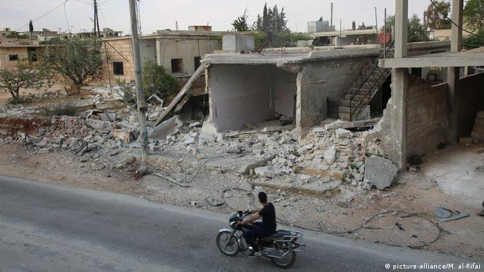 A bombed out building in Idlib Syria