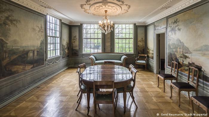 Sala da Casa Engels em Wuppertal