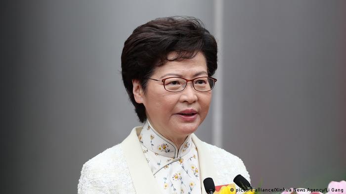 Hongkong China Eröffnung Sicherheitsbüro Carrie Lam
