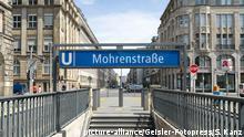 Deutschland Mohrenstraße in Berlin