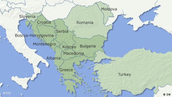 Karte Balkanhalbinsel (englisch) Flash-Galerie