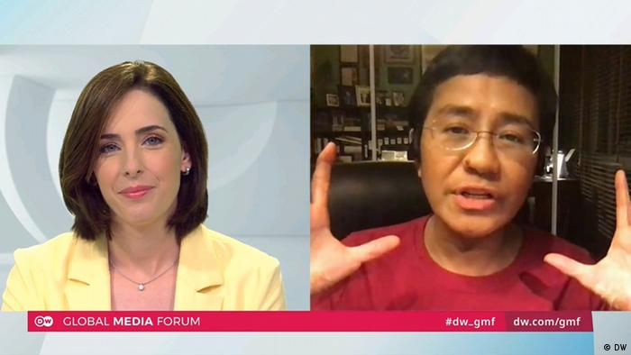 Global Media Forum 2020 digital | Sarah Kelly & Maria Ressa (DW)