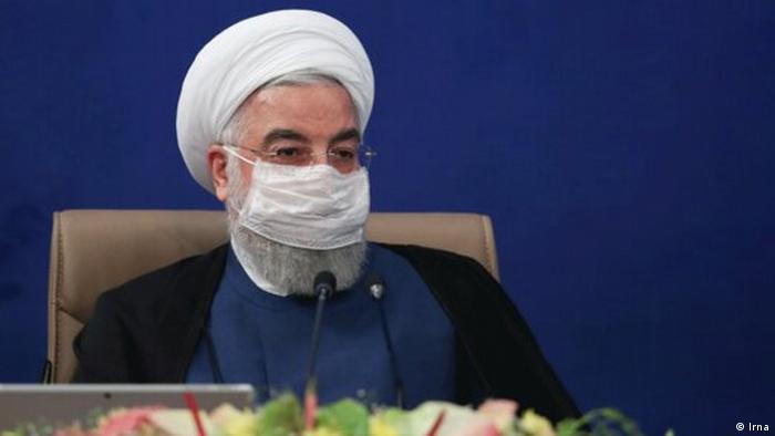 Iran Hassan Rohani, Staatspräsident mit Mundschutz