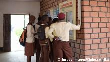 ABUJA -- Local students check the results of the final exam at a school noticeboard in Abuja, capital of Nigeria, Dec. 17, 2014. There are three academic terms for students in Nigeria and the first term starts from September to December. After the final exams, students have three weeks long vacation for Christmas and the New year. ) NIGERIA-ABUJA-STUDENTS-FINAL EXAM YangxYang PUBLICATIONxNOTxINxCHN Abuja Local Students Check The Results of The Final Exam AT a School notice board in Abuja Capital of Nigeria DEC 17 2014 There are Three Academic terms for Students in Nigeria and The First Term Offs from September to December After The Final exams Students have Three Weeks Long Vacation for Christmas and The New Year Nigeria Abuja Students Final Exam PUBLICATIONxNOTxINxCHN