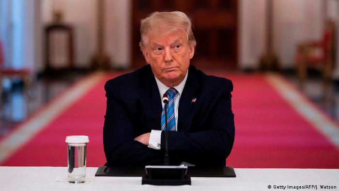 USA Washington | Donald Trump während Diskussionsrunde zur Wiedereröffnung der Schulen