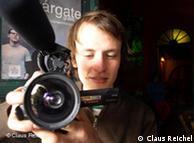 Claus Reichel durante el rodaje de