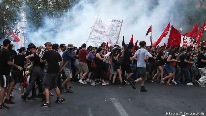 Griechenland Athen |Protest gegen geplante Regulierung von Straßenprotesten (Reuters/A. Konstantinidis)
