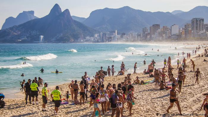 Brazil: Deceptive normalcy Ipanema Beach in Rio de Janeiro during the COVID-19 pandemic
