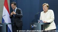Berlin Mark Rutte bei Merkel