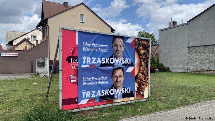 Campaign banner for Trzaskowski (DW/M. Sieradzka)