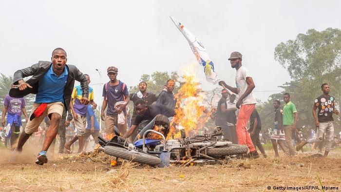 Protestos em Kinshasa na semana passada