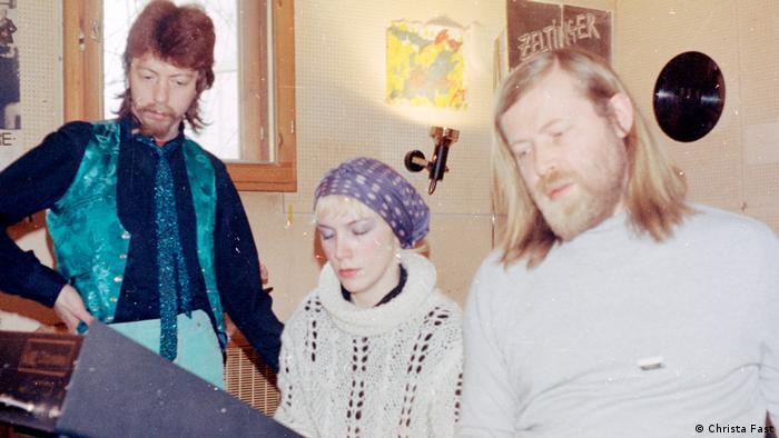 Dave Stewart, Annie Lennox und Conny Plank um 1979