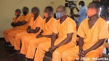 Angeklagte im Prozess wegen Verschwörung gegen den Staat Thema: Prozess wegen Verschwörung gegen den Staat Mosambik Ort:Dondo/Mosambik Datum:10.07.2020 Autor: Arcénio Sebastião (Korrespondent)